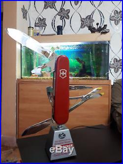 vintage electric chair cane chairs new zealand swiss army knife store display shop stand for victorinox folding » ...