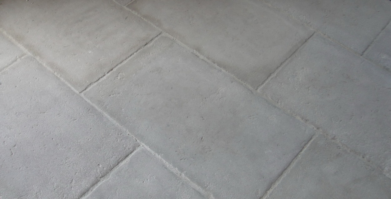 reclaimed french terracotta and french limestone flooring