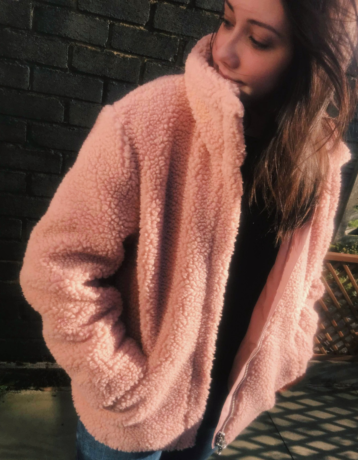 Pile Faux Fur Coat Outfit
