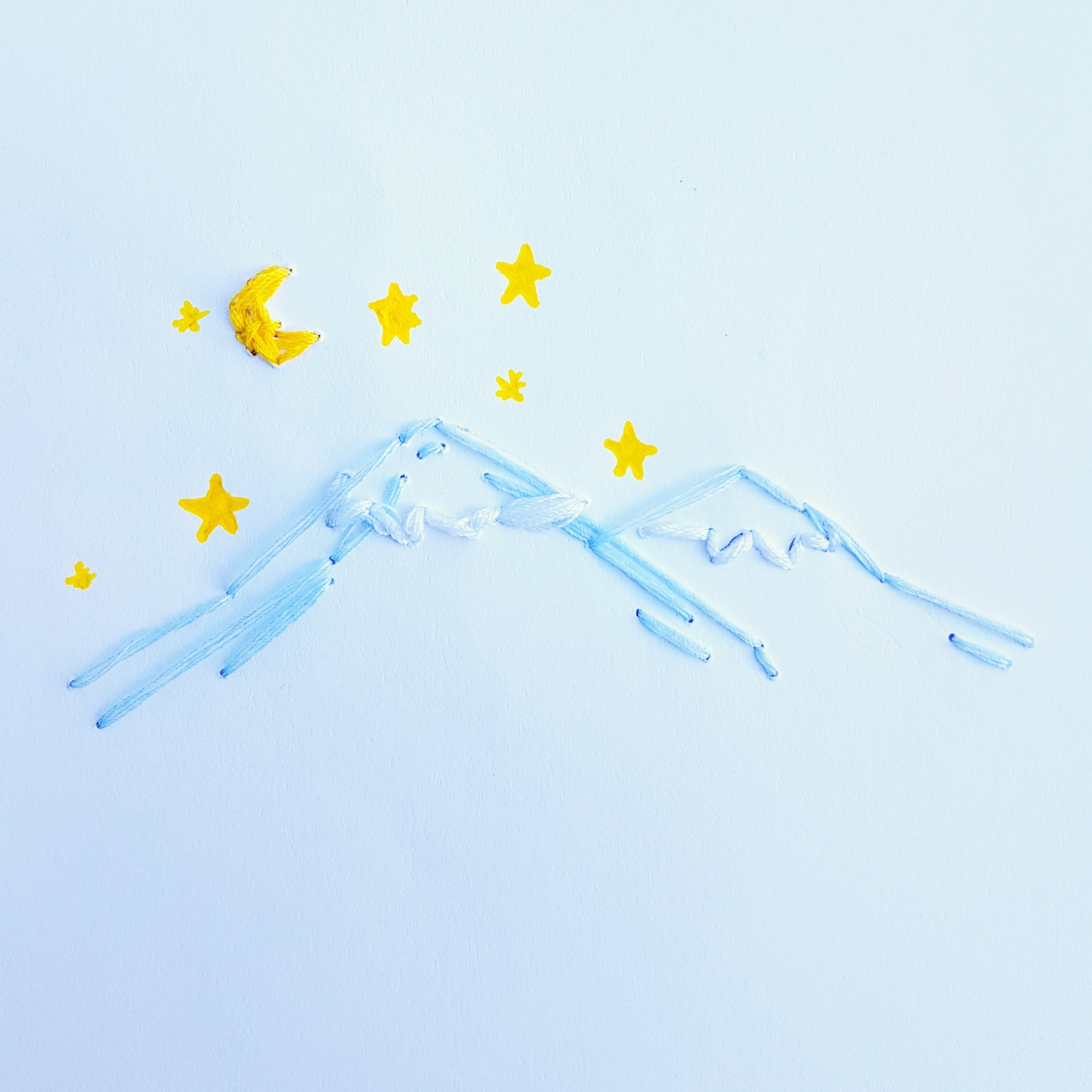 DIY Embroidered Paper Art Stargazing