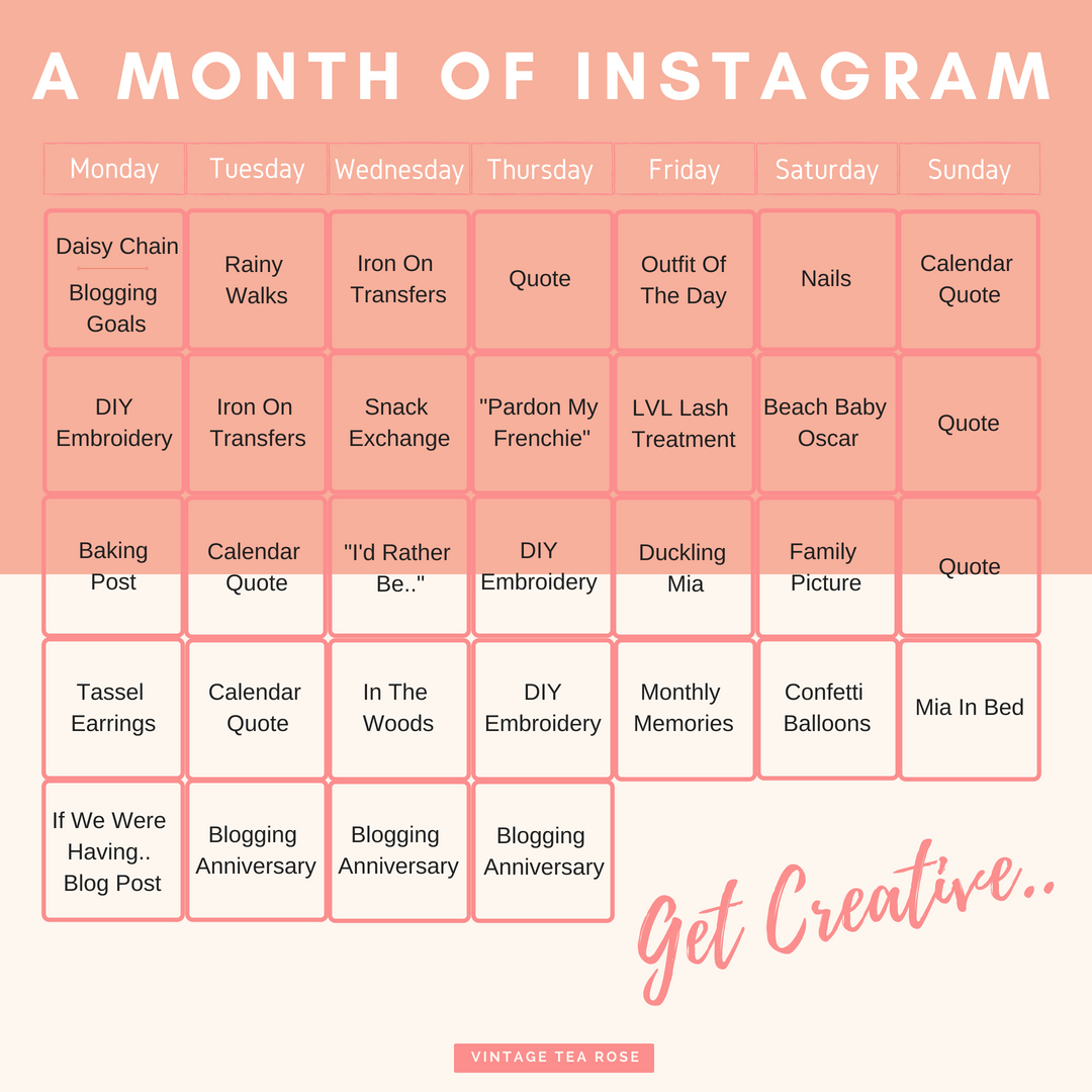 How To Plan A Month Of Instagram | Content Calendar
