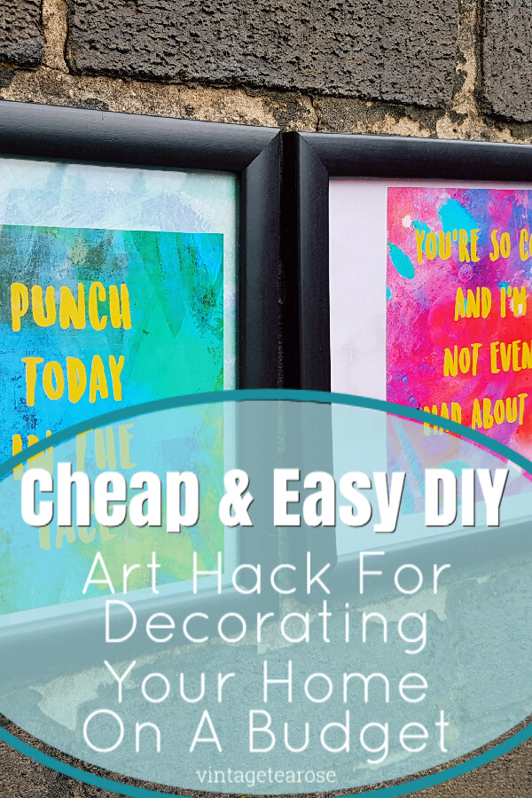DIY Cheap & Easy Home Art