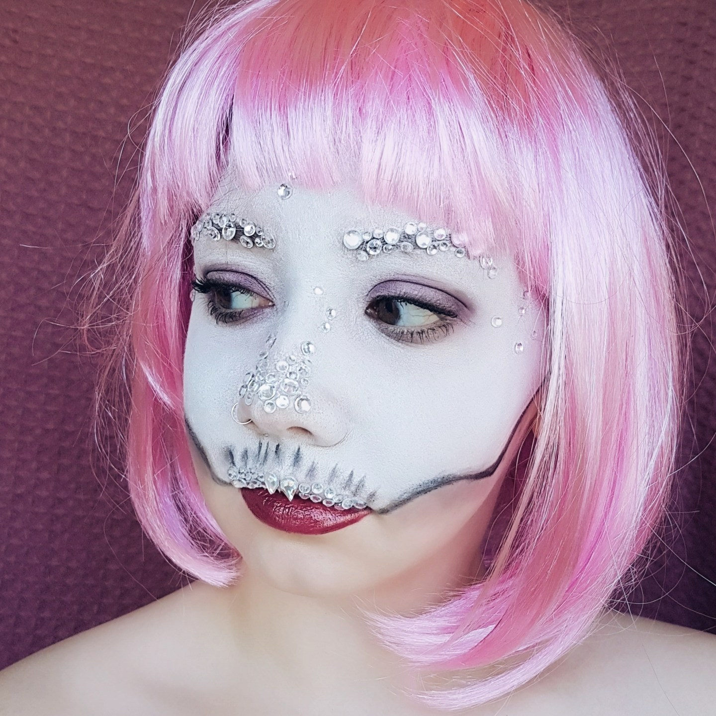 Crystal Skull Halloween Makeup Look