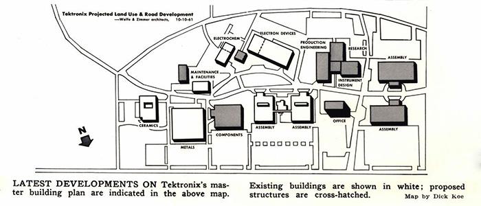 Nike Campus Beaverton Buildings Map
