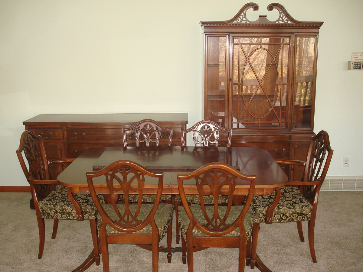 Dining Chairs Set Duncan Phyfe Dining Room Set Double Pedestal Table Chairs