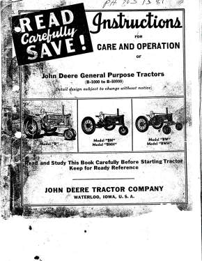 Tractor literature: Owners and Operators Manuals, Parts
