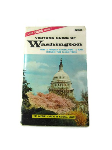 1962 Washington DC visitor guide from Attic and Barn Two