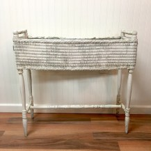 White wicker planter
