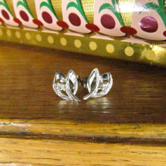 Vintage White Gold and Diamond Earrings