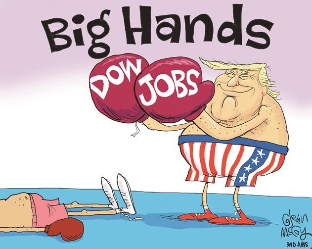 Dow Jobs Big Hands Trump - Vintage Value Investing