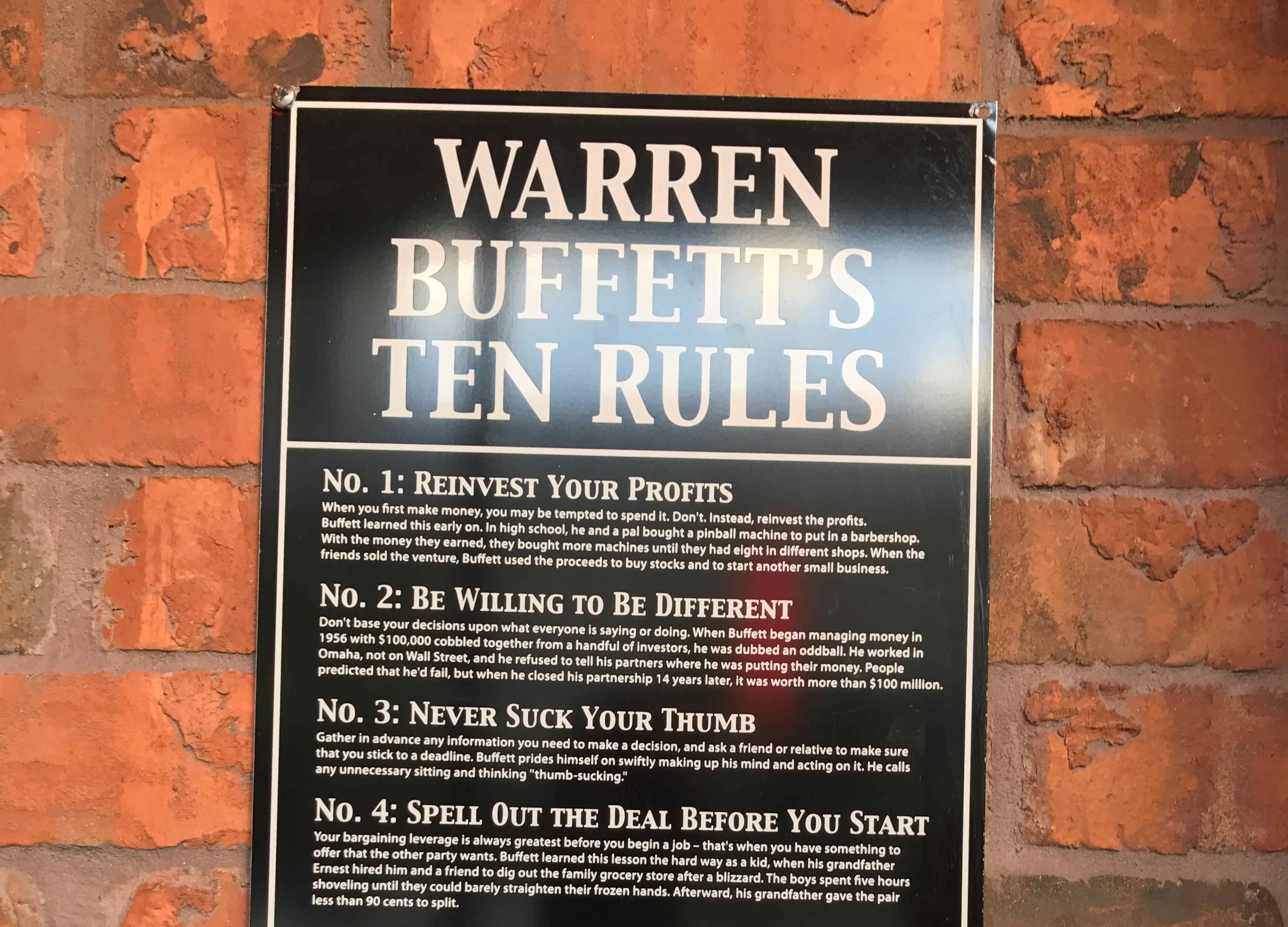 Warren Buffetts 10 Rules To Get Rich Vintage Value Investing