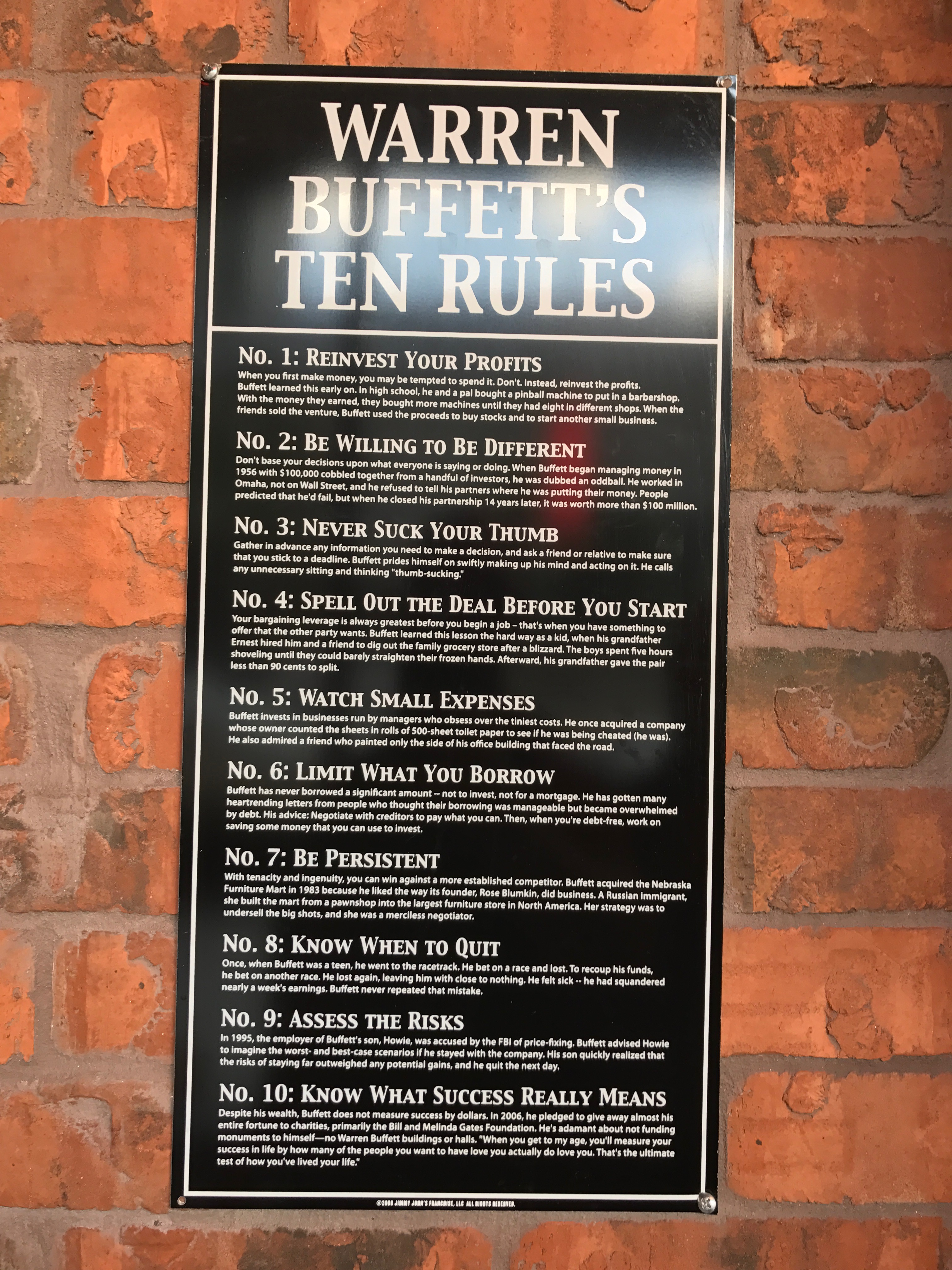 Warren Buffett's 10 Rules to Get Rich – Vintage Value Investing