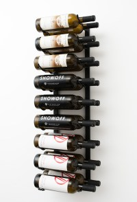 3 ft Wall Series Metal Wine Rack (9 to 27 bottles ...