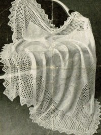 1900s lace brodered shawl knitting pattern