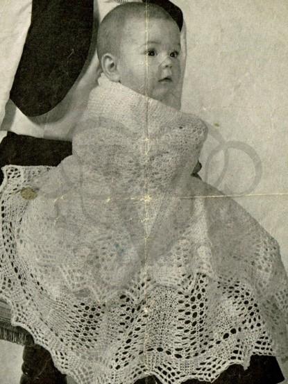 Vintage baby shawl knitting pattern