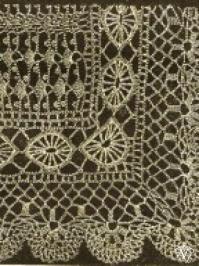 Vintage Victorian Crochet Lace Shawl Pattern