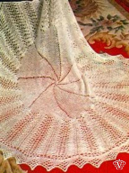 Square lace baby shawl knitting pattern