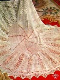 Square lace baby shawl knitting pattern