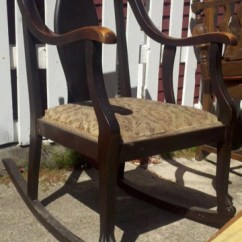 1920s Rocking Chair The Is Against Wall Shirt American 1920 S Claw Foot W Distressed Wood 65 Sold