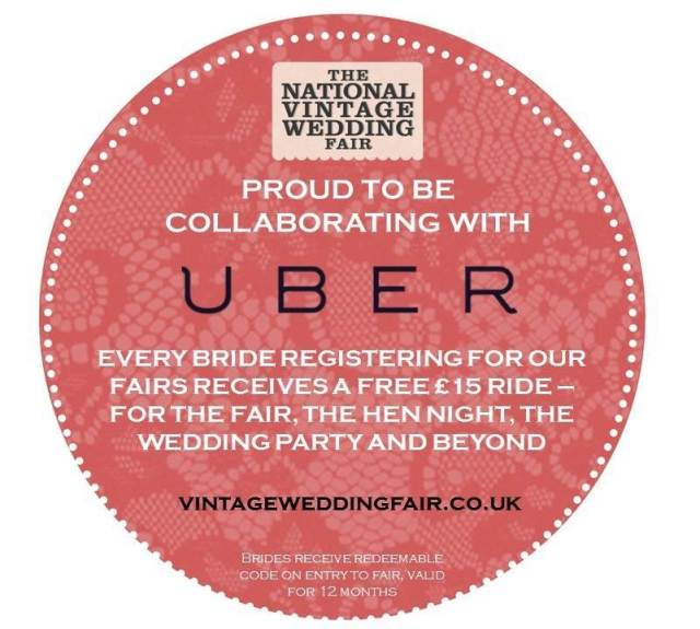 Uber circle for the National Vintage Wedding Fair