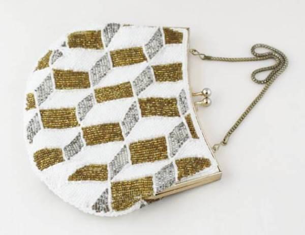 Etsy Vintage beaded 1950s 1960s evening bag for National Vintage Wedding Fair by Kate Beavis
