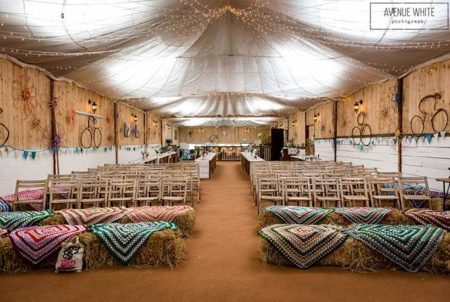 The Well Being Farm, a rustic venue in Lancashire as featured on the National Vintage Wedding Fair blog