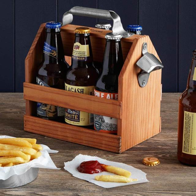 Uncommon Goods Beer Caddy - Gifts for the Groom as featured on The National Vintage Wedding Fair blog