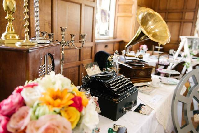 The National Vintage Wedding Fair in London Greenwich, taken by Lily Sawyer: wedding vintage props