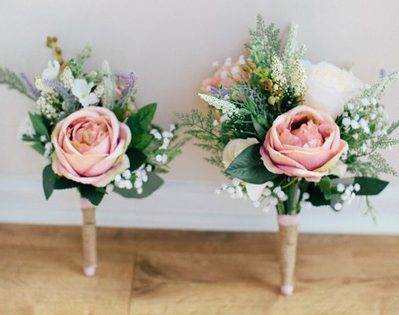 ARTIFICIAL wedding flowers by kyleeyee as featured on The National Vintage Wedding Fair blog