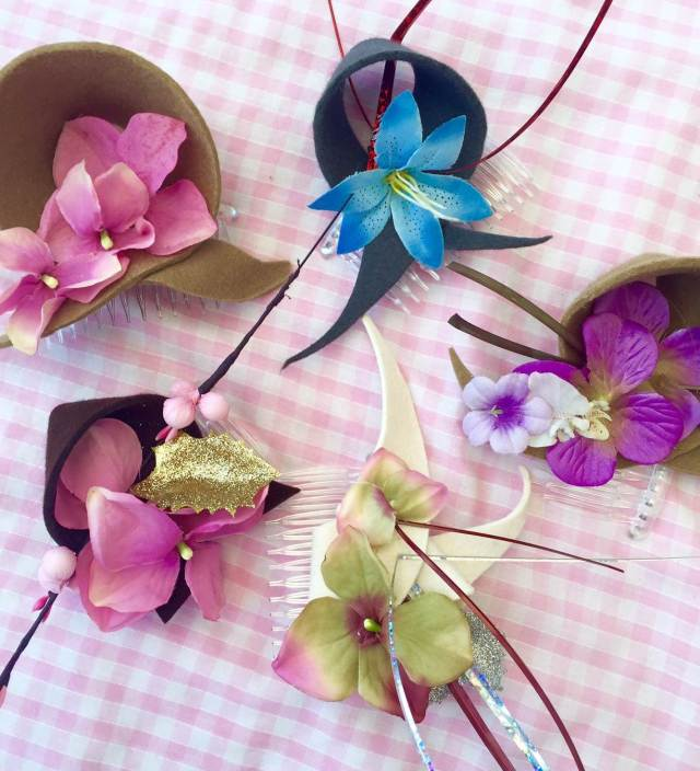 Glam hatters flower fascinators