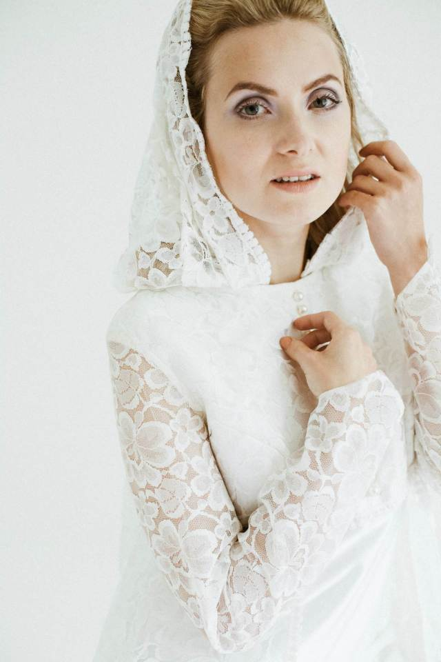 50 years of vintage wedding dresses photos by Claire Macintyre 1960s