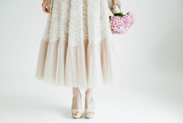 50 years of vintage wedding dresses photos by Claire Macintyre 1950s