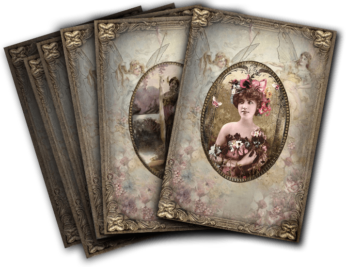 About Greeting Card Sets Vintage Wisdom Oracle Deck