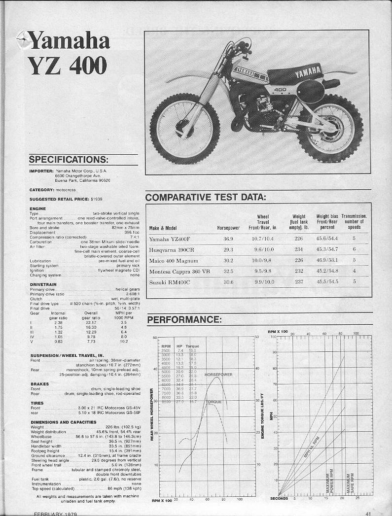 hight resolution of vintage yz info rh vintageyzinfo tripod com 1972 yamaha yz 80 1981 yamaha yz 60