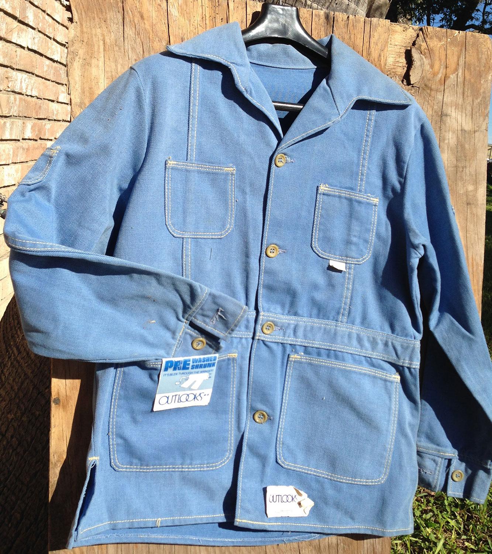 Outlooks Steel Blue 70s Vintage Denim Jacket