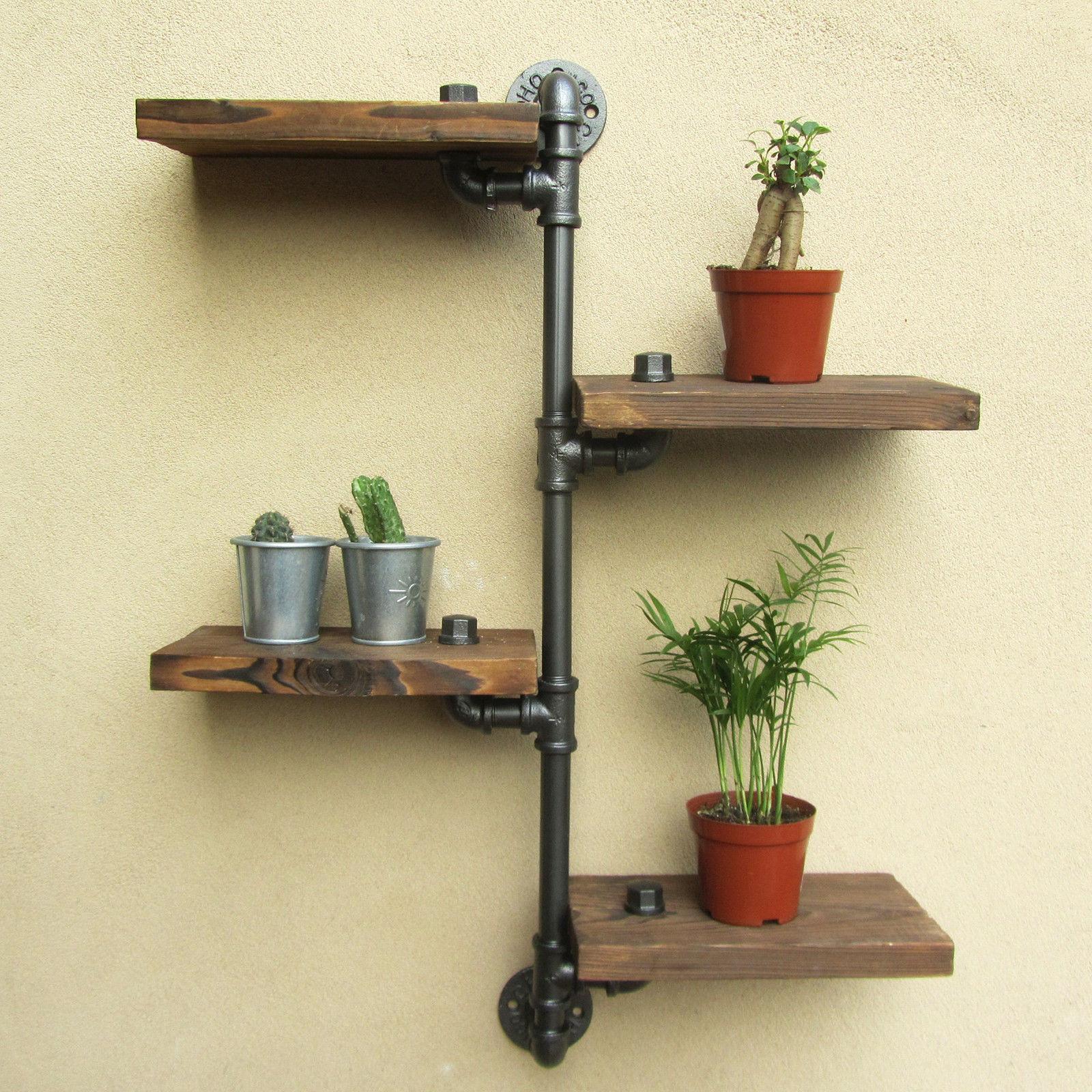 chinese kitchen accessories countertop decor steampunk wandregal aus rohren  loft regal rustikalen