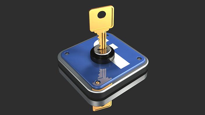 facebook lock key min