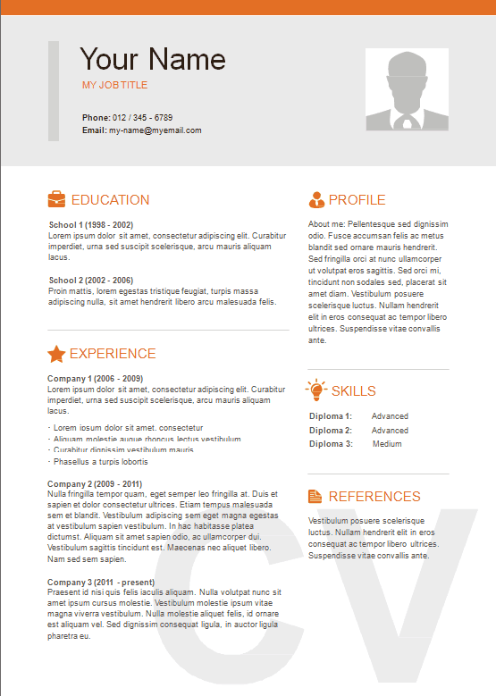 best resume templates 2014 word