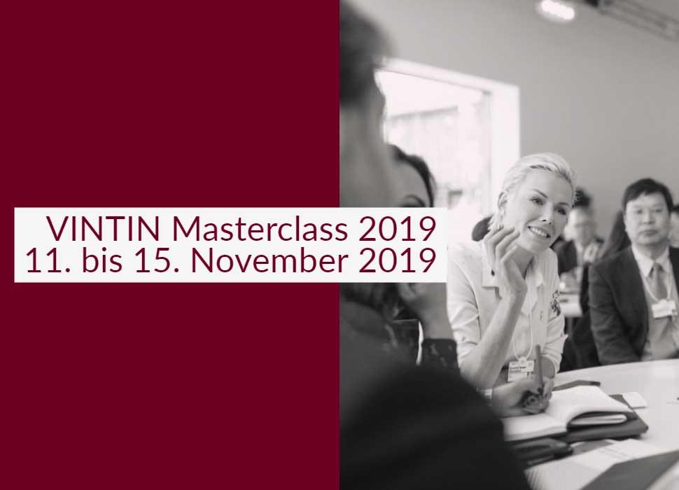 Die VINTIN Masterclass 2019 vom 11. bis 15. November 2019