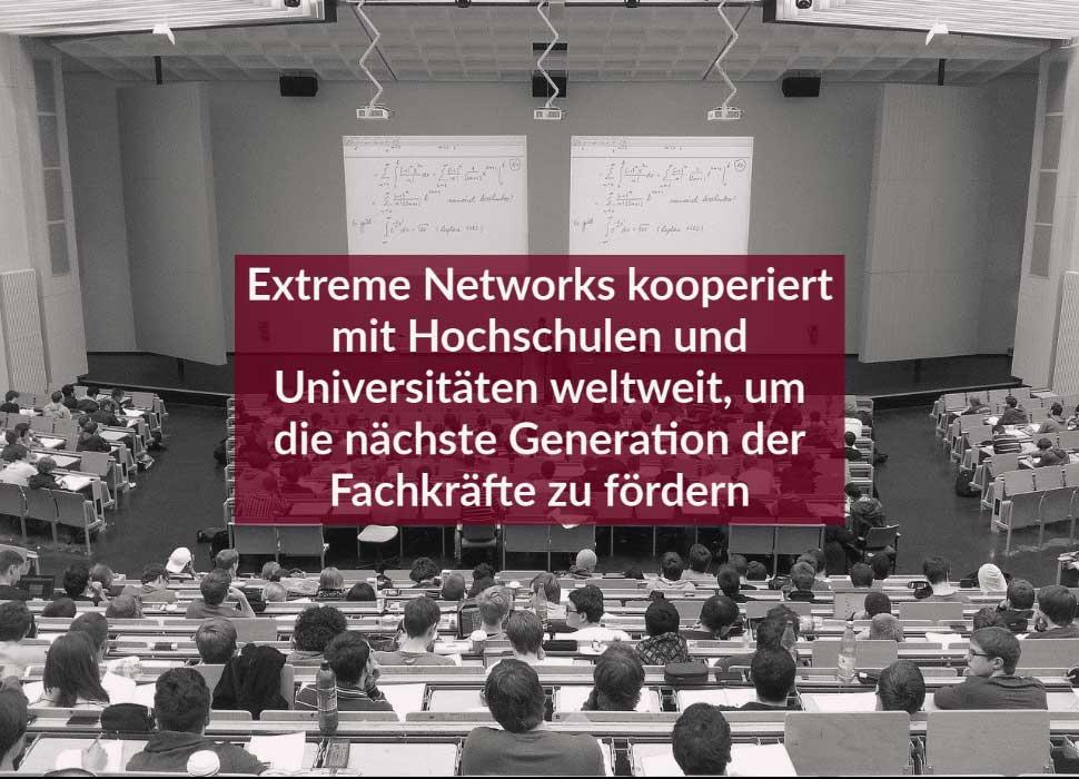 Extreme Networks kooperiert mit Hochschulen und Universitäten weltweit, um die nächste Generation der Fachkräfte zu fördern