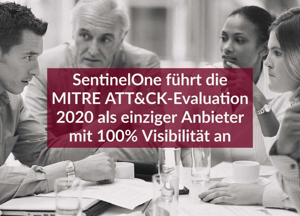 SentinelOne führt die MITRE ATT&CK-Evaluation 2020 als einziger Anbieter mit 100% Visibilität an