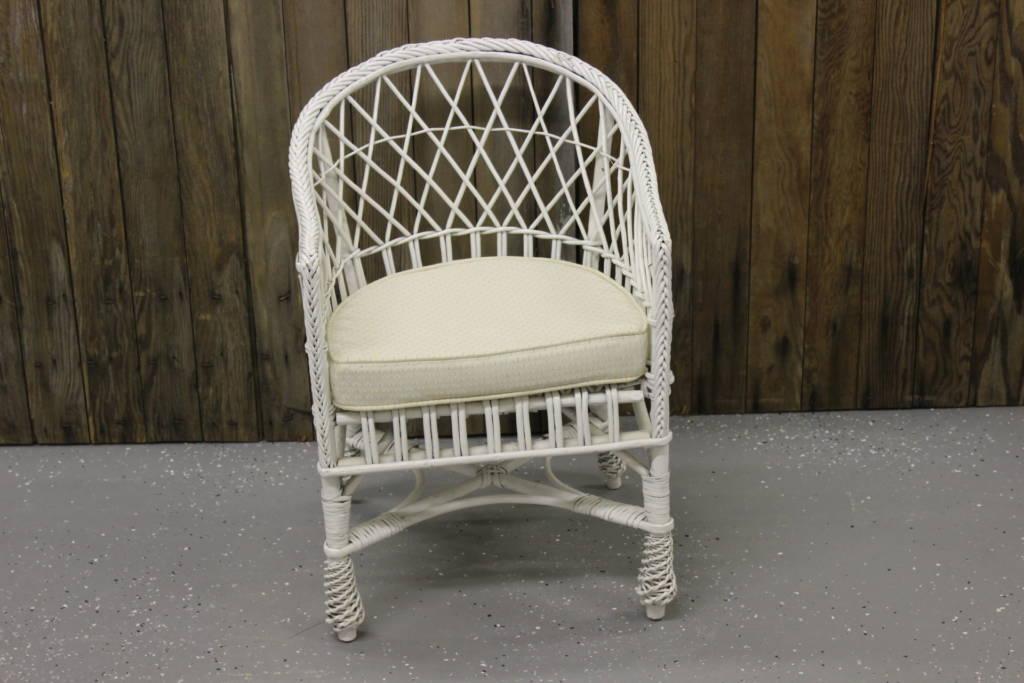 childs rattan chair aluminum makeup child s white wicker vintique rental
