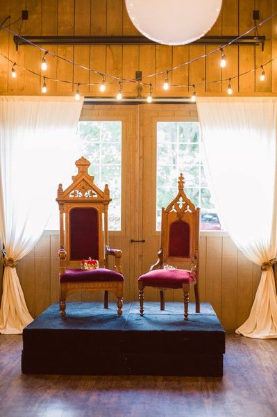 king and queen chairs for rent chair cover wedding on sale velvet vintique rental