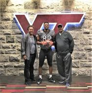 James Mitchell with parents