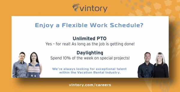 Vintory benefits - enjoy flexible schedules!