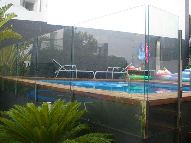 Vinuesa vallas cercados valla cristal piscinas vinuesa - Vallas de cristal ...