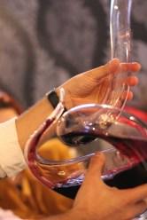 wine in decanter
