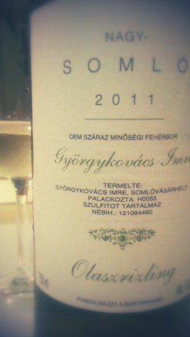 Olaszriszling Somlo 2011