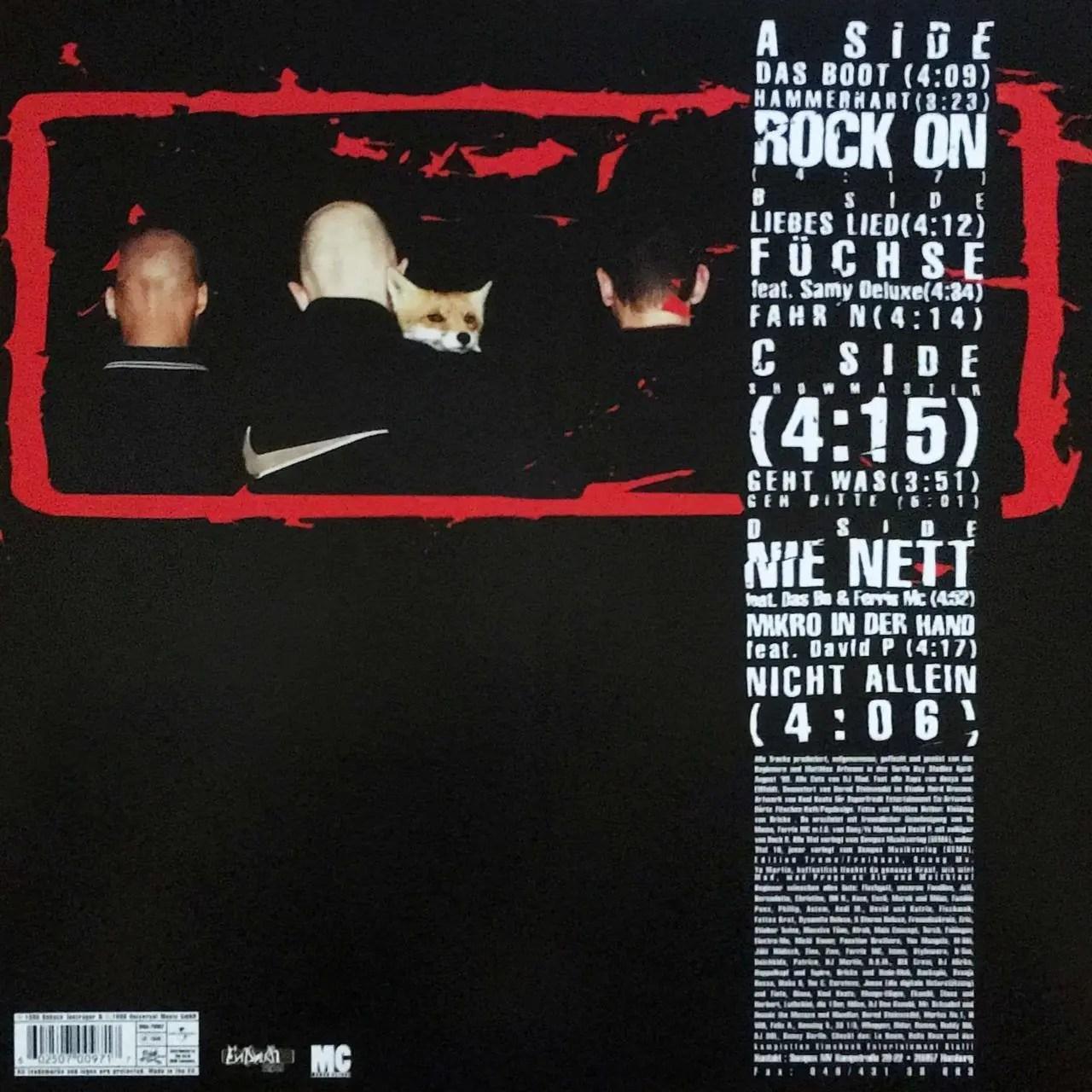 Absolute Beginner - Bambule - Cover Back