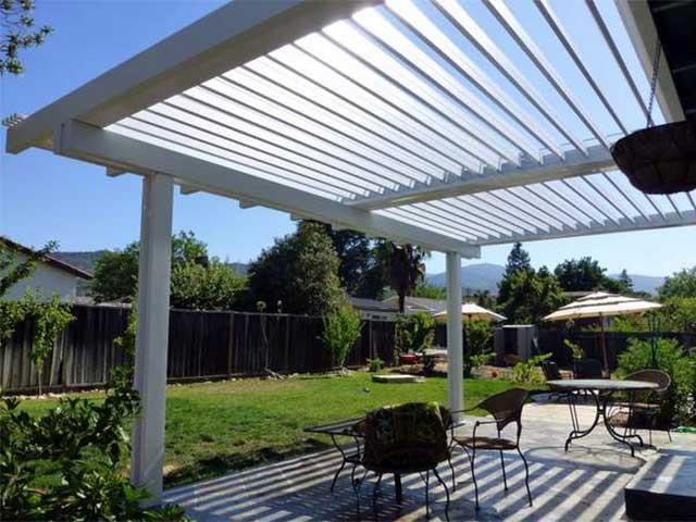 vinyl adjustable patio cover design